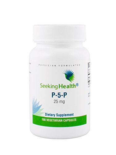 Seeking Health | P-5-P (pyridoxal 5'-phosphate) | 25 mg Active Vitamin B6 Supplement | 100 Vegetarian Capsules