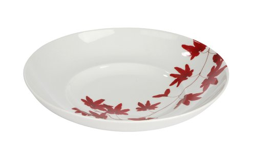 Mikasa Pure Red fine china rim soup plate