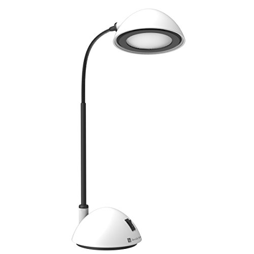 Lavish Home Bright Energy Saving LED Desk Lamp, White - Gooseneck Energy Saving