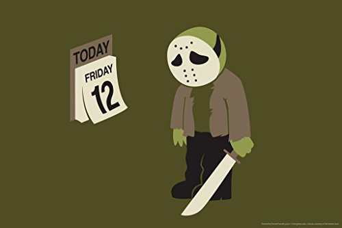 Friday the Twelfth Humor Poster 36x24 inch