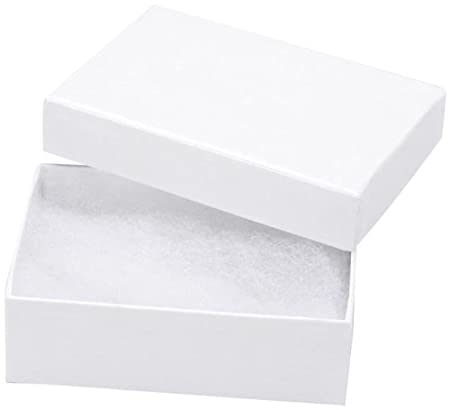 Darice 3-Inch by 2 1/8-Inch by 1-Inch Jewelry Box with Filler, 6-Pack 1162-93