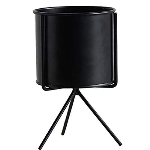 Cocal Beautiful Iron Plant Vase Stand Garden Decor Planter Holder Ceramic Flower Pot Shelf Rack (Black) ()