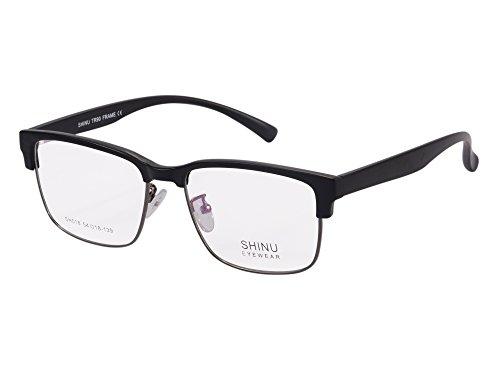 SHINU Vintage Clubmaster Eyeglasses Frame Horn Rimmed Anti Blue Light Computer - Eyeglasses Frames Clubmaster
