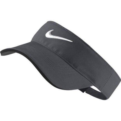 Nike Golf Tech Tour Adjustable Visor (Dark Grey/Anthracite/White)