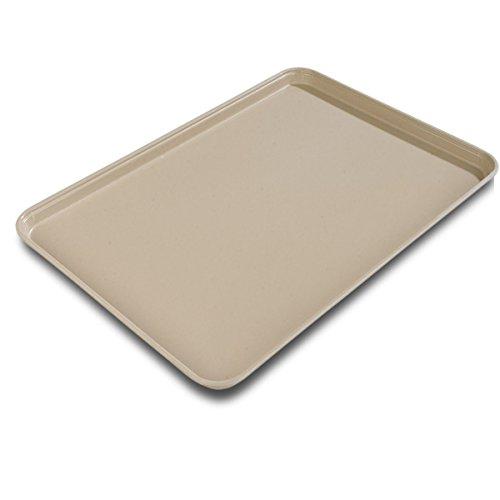 Almond Glasteel (Carlisle 2216FG095 Fiberglass Glasteel Solid Rectangular Tray, 22.12
