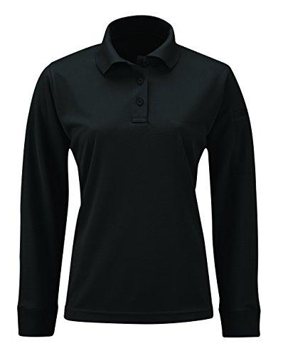 Propper Women's Uniform Long Sleeve Polo, Black, X-Small