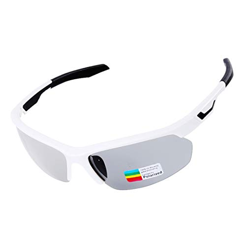 HEALTHLL Photochromic Cycling Sunglasses TR90 Road Bike Glasses 3 in 1 Lens All-Weather Eyewear Mountain Skidproof Spectacles Men Women White with ()