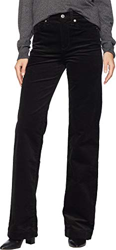 7 For All Mankind Women's Alexa in Black Luxe Cord Black Luxe Cord 27 34 34 7 For All Mankind Corduroys