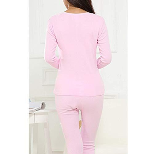 Mens Rosa1 Piece Classiche Ragazzi Leggings Fashion Warm Two Womens Unisex Inverno Autunno Set Sleepwear Slim Pigiama Laisla Cotton qTtOP