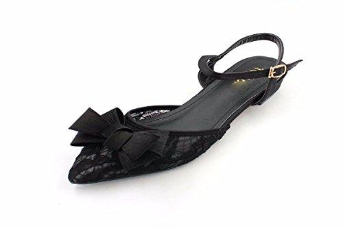 Lady Garza Sandali black Basso Vuoto Dopo HBDLH Puntata Estate Scarpe Scarpe Superficiale Panno La I Delle da In Il donna Fibbie Bellezza Con E qwqgf
