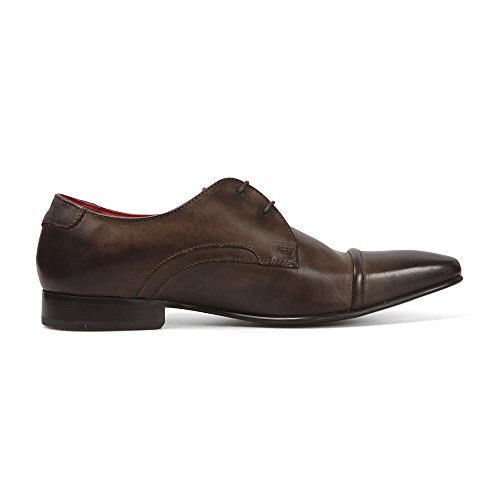 Base London - Zapatos de cordones para hombre marrón Burnished Cocoa