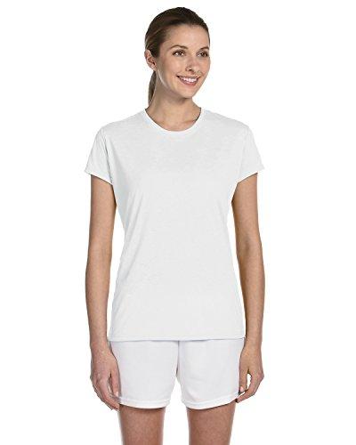 Gildan Ladies/Womens Core Performance Sports Short Sleeve T-Shirt (M) (White)