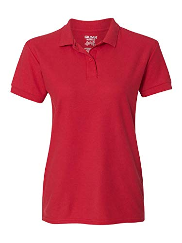 Gildan - Ladies DryBlend Double Pique Polo Shirt - 72800L-Red-XL