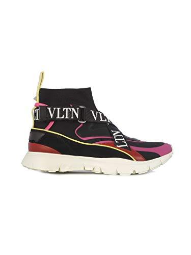 Qw2s0h51xstekm poliestere alte Sneakers in Womens nero Valentino Fwq841fq