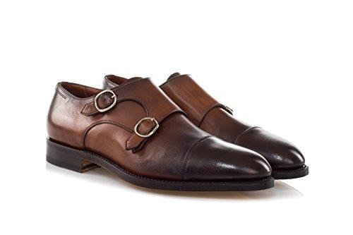 Aus Monkstrap Schuhe Leder Poliertem Schuhe Braun Santoni qSgCawx