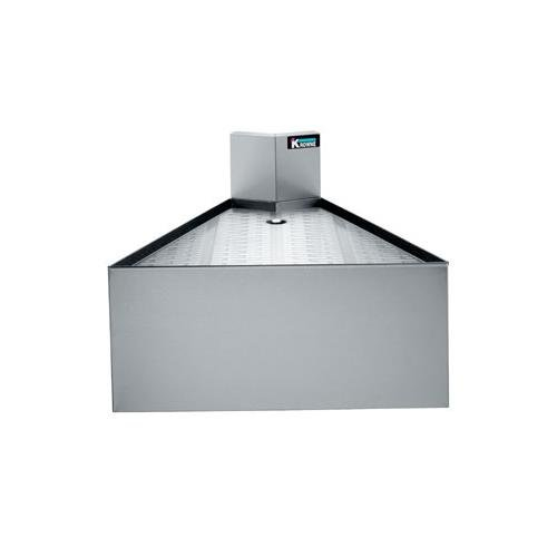 Krowne KR21-DFC45 - Royal 2100 Series 45 Degree Front Angled Corner Drainboard (2100 Drainboard Series Corner)