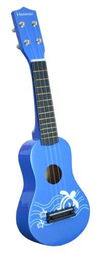 Directly Cheap UKO-BU Hawaiian Theme Ukulele Uke Toy for Kids & Translucent Blue Medium Guitar Pick