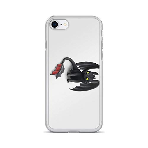 iPhone 7 Case iPhone 8 Case Clear Anti-Scratch Shock Absorption Toothless, Night Fury Inspired Dragon.Toothless Cover Phone Cases for iPhone 7/iPhone 8 -