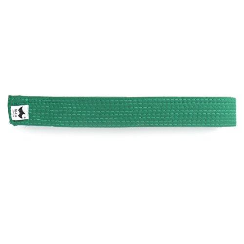 Milue Professional Taekwondo Belt Karate Judo Double Wrap Martial Arts Stripe Sports (Green)