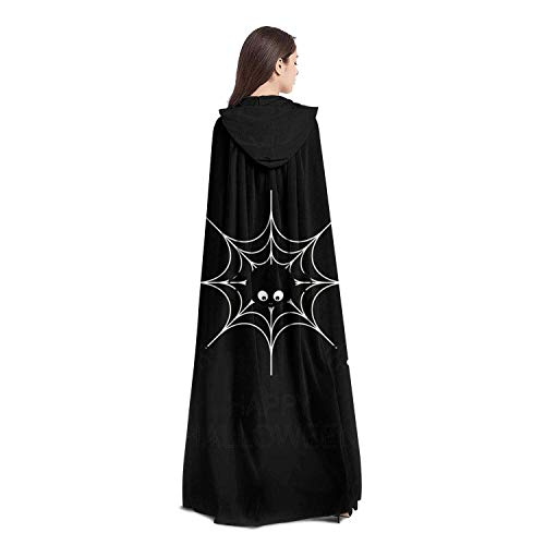 LMZAADZZ Happy Halloween Spider Unisex Hooded Cloak