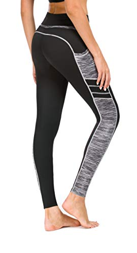 Flatik Damen Netzoberfläche Sport Gym Yoga Laufen Fitness Leggings Hose