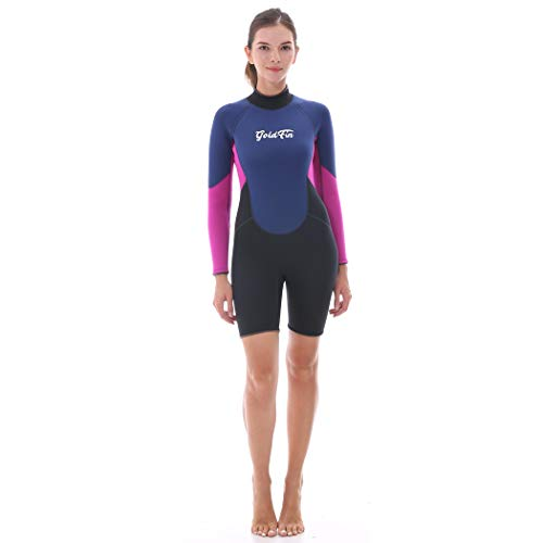 67f0638b66 GoldFin Womens Shorty Wetsuits 3mm Neoprene Wetsuit