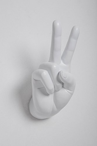 Interior Illusions Plus Peace Sign Hand Wall Hook - II0076W