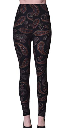 VIV Collection Plus Size Printed Brushed Ultra Soft Legging (Deep Ground ()