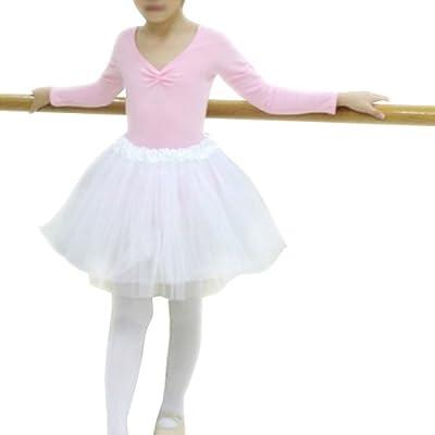GOGO TEAM Girl's Tutu Skirt Ballet Dance Skirt Party Fairy Costume Skirt-Rosered: Clothing