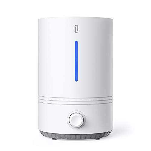 TaoTronics Top Fill humidifiers, 4.3L Cool Mist Humidifier for for Bedroom Nursery [BPA Free], Easy to Clean, 17-36 Hours, Auto Shut Off, Blue Mood Light