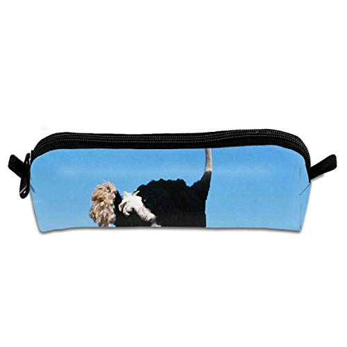 (Pen Bag Ostrich Kids Search Cool Pencil Case with Zip Art Colored Pen Pouch for Kids Youth (1 Pack))