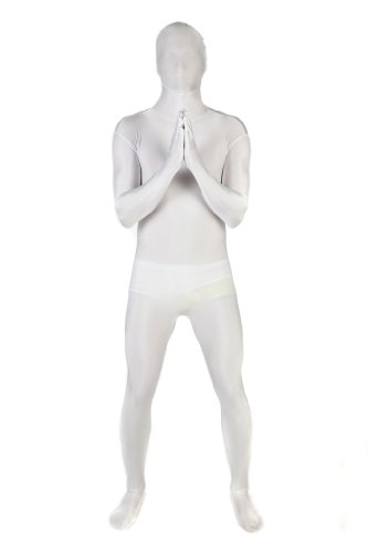 Original Morphsuit Fancy Dress Costume ,White, Large (Black And White Superhero Costumes)