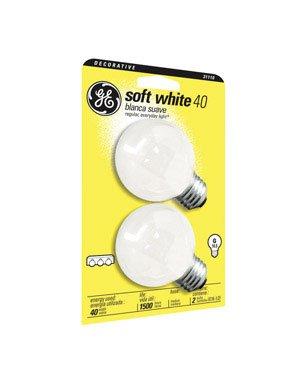 GE 31110-12 40-Watt Soft White, Globe G16.5, ()