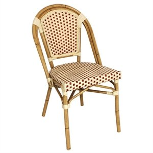 4 X Heavy Duty Continental Style Bistrot Chaises Imitation Osier