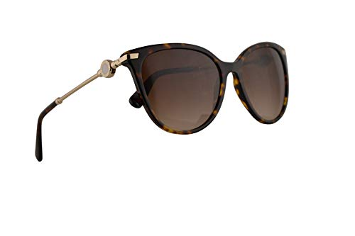 Bvlgari BV8206 Sunglasses Dark Havana w/Brown Gradient 55mm Lens 50413 BV 8206 ()