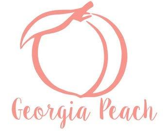 georgia peach decal - 9