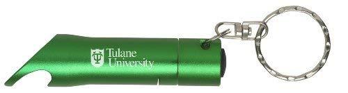 LXG, Inc. Tulane University - LED Flashlight Bottle Opener Keychain - Green