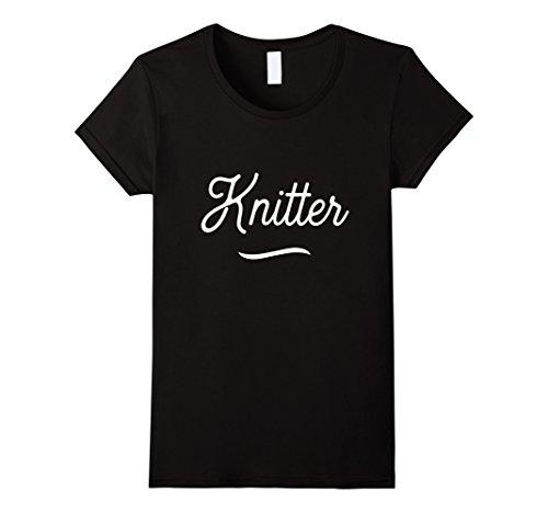 Womens Vintage Knitting T Shirts. Best Gag Joke Gifts for Knitters. XL Black