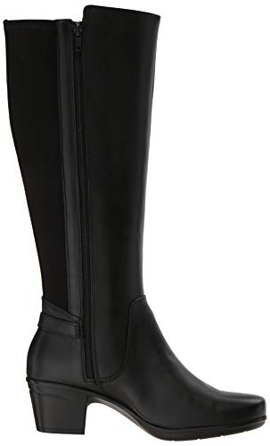 Women's M Clarks Us Emslie Fashion Black Boot March Leather 050 dqO8Tq