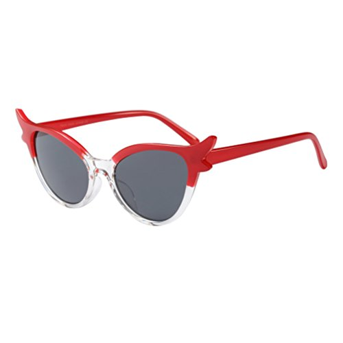 Soleil Zhhlinyuan UV400 Durables de et Lunettes Femmes Red pour Les Rétro Personnalité Petites Lunettes Légères qqxYSr