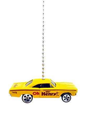 Roadrunner Light - Plymouth Nestle Diecast Ceiling Light Fan Pull Ornament (1970 Plymouth Roadrunner Oh Henry Yellow)