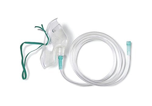 Medline HCSU4600B MASK, OXYGEN, MED. CONCEN, PED, With 7' TUB, U (Case of 50)