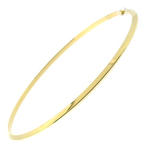 14k Yellow Gold Bangle Bracelet - 14k Yellow Gold 2mm Thin Bangle Bracelet, 8