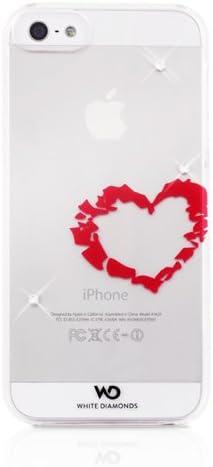 Funda WHITE DIAMONDS iPhone SE/5s/5 Corazon Transparente 1210LIP61