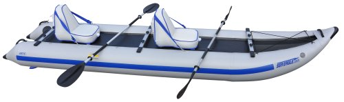 Sea Eagle 435PS 14ft Inflatable Catamaran Kayak Incl Seats Oars Pump