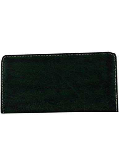 Menschwear Mens Genuine Leather Designer Wallet Credit Card Holder Purse Green by Menschwear