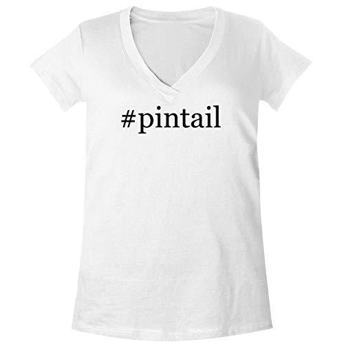 The Town Butler #Pintail - A Soft & Comfortable Women's V-Neck T-Shirt, White, Medium