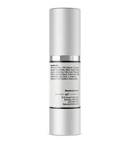 31TSdoJaiOL - Natures Esthetics Vitamin C Serum with Hyaluronic Acid for Face - Anti-Aging, Pore Minimizer, Acne Treatment, Skin Brightening and Tightening. Packaging Prevents Oxidation. Air-Tight 1 fl.oz