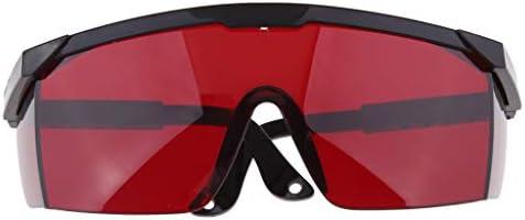 ゴーグル 目保護グラス 溶接メガネ 溶接 切断 溶接機安全 全5色 - 赤
