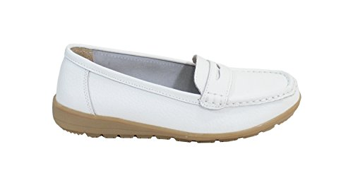 By Shoes -Mocasines ou Náuticos para Mujer Blanco